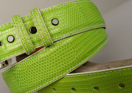 Lizard Belt - Lime Green