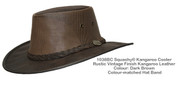 Squashy Kangaroo Cooler Hat - Dark Brown