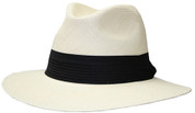 Panama Classic Safari Fedora Hat - Natural II