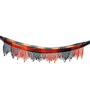 Neon Orange Hammock with Crochet Fringe