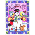 Snowman Honeybee Holiday Cards (10 Cards)