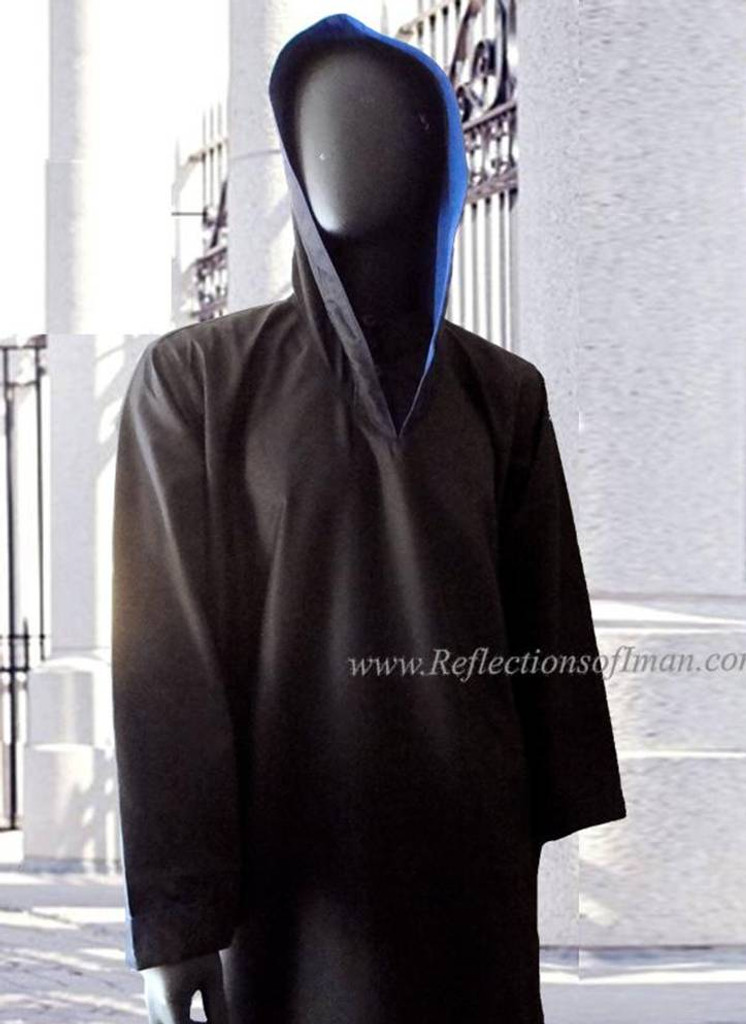 Prime 003 Black Hooded Thobe