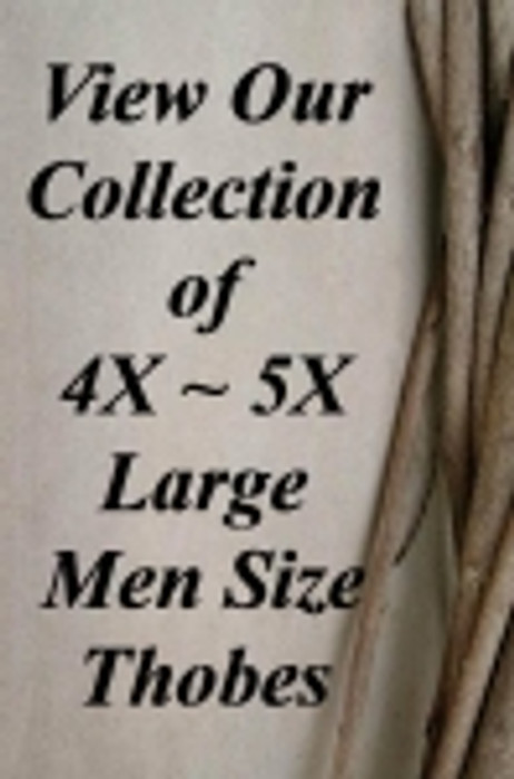 4X Large Men Size Thobe
