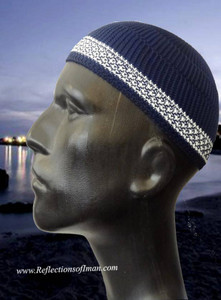 Basic Navy Blue Men Kufi