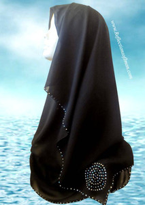 Sparkling Blue and Clear Saudi Black Shayla