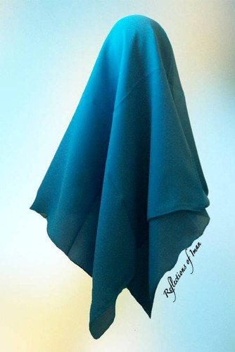 Columbia Blue Georgette Scarf Style Hijab