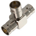 BNC All Female Tee 'T' Coaxial Adapter