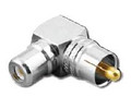 RCA Male to RCA Female Right Angle Coaxial Adapter Elbow RFA-6306