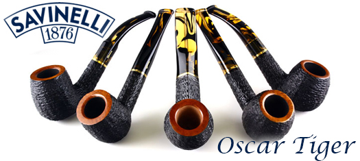 Savinelli Oscar Tiger Pipes at GQTobaccos
