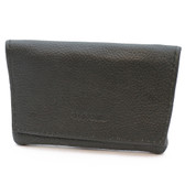 Artemis - Small Fold Over Rolling Tobacco Pouch (Black)