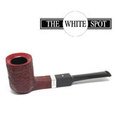 Alfred Dunhill - Ruby Bark - 4 224 - Group 4 - Panelled - White Spot - Silver Band