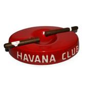 Havana Club Collection Red Cigar Ashtray El Socio Ceramic Ashtray Double