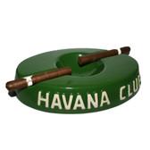 Havana Club Collection Green Cigar Ashtray El Socio Ceramic Ashtray Double