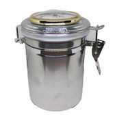 Stainless Steel Tobacco / Cigar Jar with Hygrometer