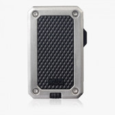 Colibri - Rally Single Jet Flame Cigar Lighter - Black & Chrome