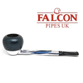 Falcon - Shillelagh (Polished/ Blue) with Carbon Fibre Blue Apple Bowl