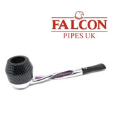 Falcon - Shillelagh (Polished/ Purple ) with Carbon Fibre Purple Bulldog Bowl