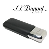 St. Dupont Cigar Case - Metal & Leather - for 2 Cigars