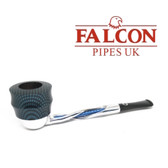Falcon - Shillelagh (Polished/ Blue) with Carbon Fibre Blue Plymouth Bowl