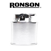 Ronson Nostalgia - Chrome (Satin Silver)  - Soft Flame Petrol Lighter