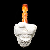 Meerschaum  - Hand Carved Pirate #2 Pipe (Medium)