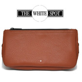 Alfred Dunhill - White Spot - Terracotta  2 Pipe Combination Pouch (PA2024)