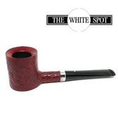 Alfred Dunhill - Ruby Bark - 4 122 - Group 4 - Poker - White Spot - Silver Band