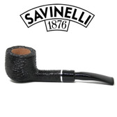Savinelli - Otello - Rusticated  - 121 - Bent Pot -  6mm Filter