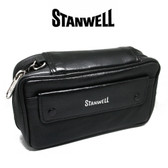 Stanwell - Black Leather Tobacco & Pipe Bag