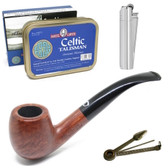 Mid Range Pipe and Aromatic Tobacco Starter Set