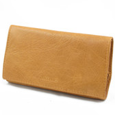 Artemis - Large Fold Over Rolling Tobacco Pouch (Tan)
