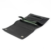 Artemis - Medium Fold Over Rolling Tobacco Pouch (Black)