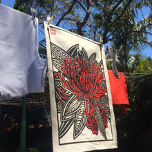 NEW tree waratah tea towel