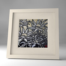 flannel flower framed print