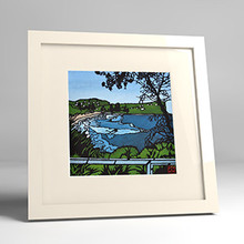 avalon view framed print