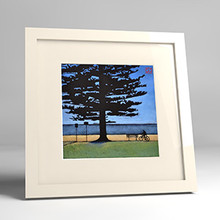 newport cyclist framed print