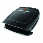 GEORGE FOREMAN 4-Serving Fixed Plate 2-in-1 Grill and Panini Press Black - GR2060B