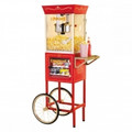 NOSTALGIA Old Fashioned 59 Inch Movie Time Popcorn Concession Cart - CCP610