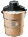 AROMA 6 Quart Wood Barrel Ice Cream Maker - AIC-206EM