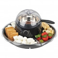 KALORIK Fun Chocolate Fondue and Candy Apple Maker with Oversize Party Tray - CHM-36715-BK