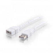 CABLESTOGO 6.5ft USB A Male to A Female Extension Cable - White - 19018