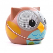 ZOO-TUNES Ogle-the-Owl Compact Portable Character Stereo Speaker - MCS07