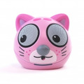 ZOO-TUNES Compact Portable Bluetooth Stereo Speaker, Pink Kitten - MCS04BT