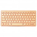 IMPECCA Compact Bluetooth Wireless Bamboo Keyboard Orange - KBB78BTO