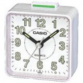 CASIO TQ140 Travel Alarm Clock - White - TQ140-7