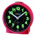 CASIO Round Desk Top Beeper Alarm Clock Red - TQ228-4