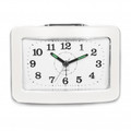 IMPECCA Bell Alarm Clock with Snooze and Light White - WAA35NW