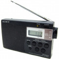 SONY Portable AMFM Radio with Hold Button and Built-in Digital Clock - ICF-M260