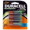 DURACELL NiMH 2450mAh General Purpose Rechargeable Batteries - DC1500B4N