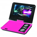IMPECCA 7 Inch Swivel Portable DVD Player Pink - DVP775P